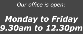 Office Opening times